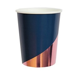 [Harlow&Grey] 에리카 네이비 종이컵 (8pcs)