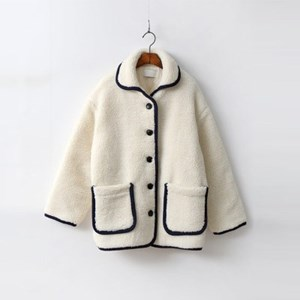 Preppy Shearling Coat