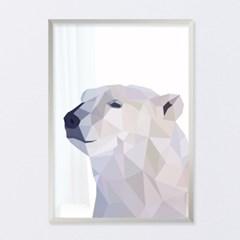 폴리곤 북극곰 - A2,A3,A4 메탈액자