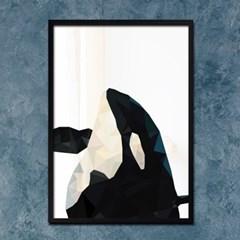 폴리곤 범고래 - A2,A3,A4 메탈액자