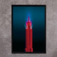 레드 엠파이어 스테이트 빌딩 - A2,A3,A4 메탈액자