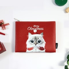 슈가캣&캔디도기 크리스마스 인조가죽 파우치
