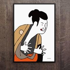 일본 인테리어 디자인 포스터 M 우키요에 샤라쿠 일본소품