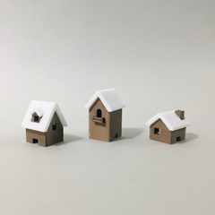 3D프린팅으로 만든 집 피규어