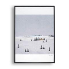눈 오는 풍경