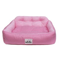 SIMPLE DOTE SQUARE BED (PINK)