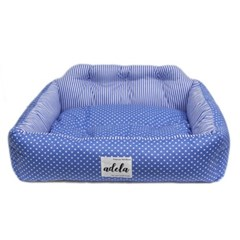 SIMPLE DOTE SQUARE BED (BLUE)