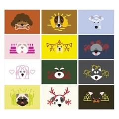 [2018 HAPPY DOG]형형색색 해피독 엽서 12종
