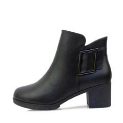kami et muse Side square belt middle heel ankle boots_KM17w293