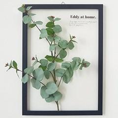 보타니컬 투명액자 - 그리너리 둥근잎사귀 A3