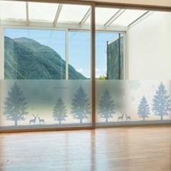 dgcn236-스칸디나비아 윈터-무점착 반투명 창문 시트지
