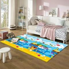 17T 프로비 에코 놀이방매트 애니멀 고래섬 200x150x1.7cm