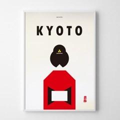 일본 인테리어 디자인 포스터 M 교토 일본소품