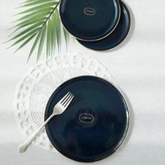 아덴 골드라인 원형 접시 코발트블루(2size)_(1084394)