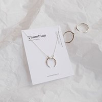 [925silver] moon necklace 달 목걸이