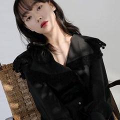 [치즈달] lace collar blouse