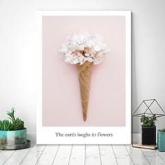 아이스크림 꽃 3  - 감성사진 폼보드 액자