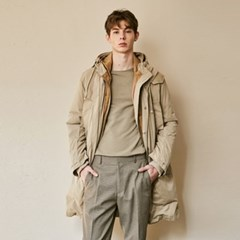 SEMISIZED HOODY DUCKDOWN JUMPER_BEIGE