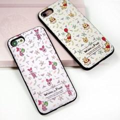 디즈니 푸우 멜로우 패턴 카드 케이스 아이폰 갤럭시 LG