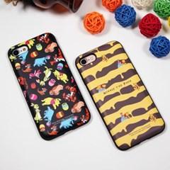디즈니 푸우 다즐링 패턴 카드 케이스 아이폰 갤럭시 LG