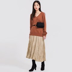 thin v-neck wool knit_(863972)