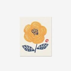 종이꽃 스티커(10개)-ST102