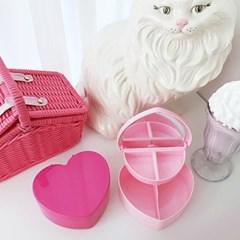 Pink Heart Box 핑크하트거울보석함