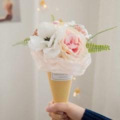 아네모네 아이스크림콘 사탕꽃다발_(556091)