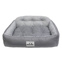 SIMPLE DOTE SQUARE BED (GREY)