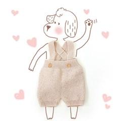 [2018 개띠 아기를 위한] 신생아 강아지 롬퍼 세트