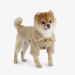 강아지 떡볶이 코트 - beige