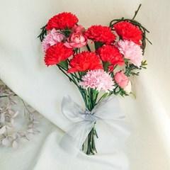 카네이션 하트봉봉 꽃다발