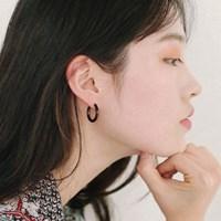 black ring earrings (3size)