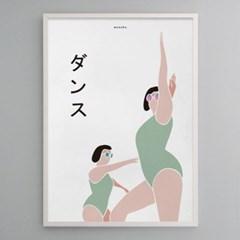 일본 유니크 인테리어 디자인 포스터 M 댄스 일본소품