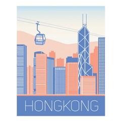홍콩 일러스트 포스터 (액자판매)