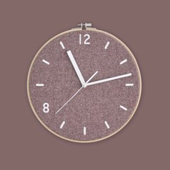 Fabric Clock_Dry Rose