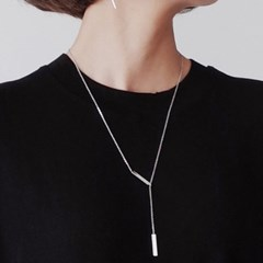 2 rectangle drop necklace
