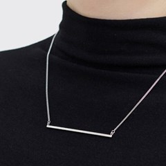 Simple square-bar necklace
