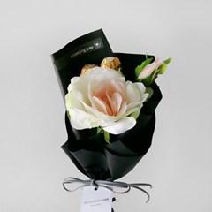 발렌타인 초콜릿 1송이장미 꽃다발