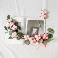 핑크목화 유칼립투스 가랜드_(560155)