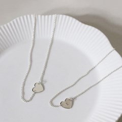 [위시쥬얼리] Heart initial necklace - 언발 ver.