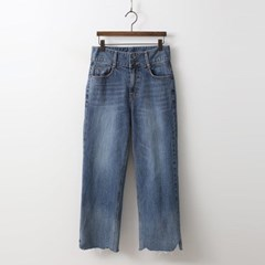 Button Wide Jeans