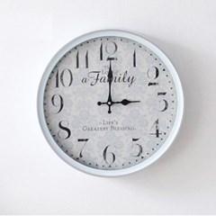 빈티지블루 40cm 벽시계(HLCQ188784G)