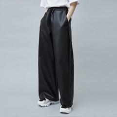 leather wide pants (3 color) - UNISEX_(875671)