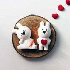 귀여운 입체토끼 석고방향제+리필오일
