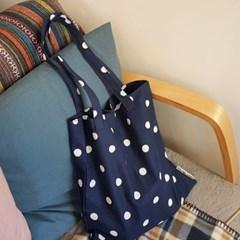빈티지도트_네이비 book bag