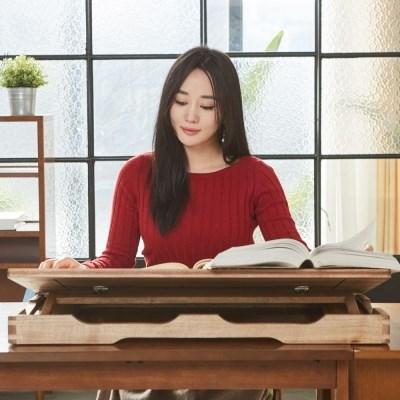 명품 독서대 각도조절 보조책상 800 오크 필기독서대