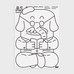 마트료시카 컬러링 포스터 A1