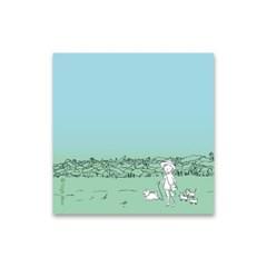 베짓 일러스트 메모지 - 연꽃길