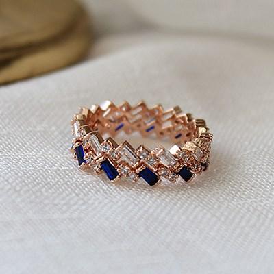 큐빅 오블리크 반지(2colors) cubic oblique ring